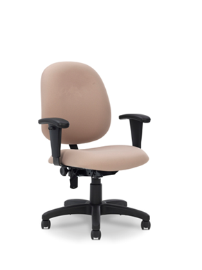 Picture of Comfortable Mid Back Office Task Swivel Chair with Adjustable Arms