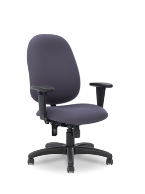 Picture of Comfortable High Back Office Task Swivel Chair with Adjustable Arms