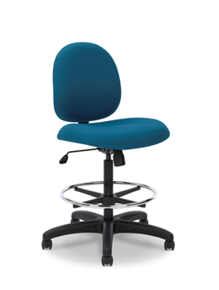 Picture of Comfortable Mid Back Armless Footring Drafting Stool Chair