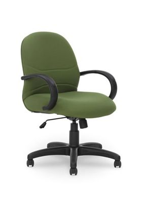 Picture of Conference Mid Back Padded Office Swivel Chair with Loop Arms