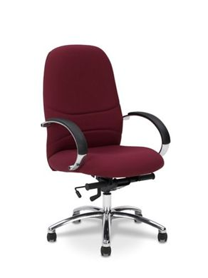 Picture of Conference High Back Office Swivel Chair with Chrome Base & Loop Arms