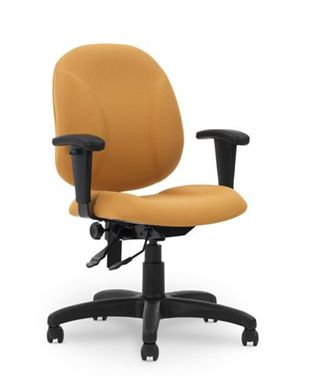 Picture of Ergonomic Mid Back Office Task Chair with Adjustable Arms