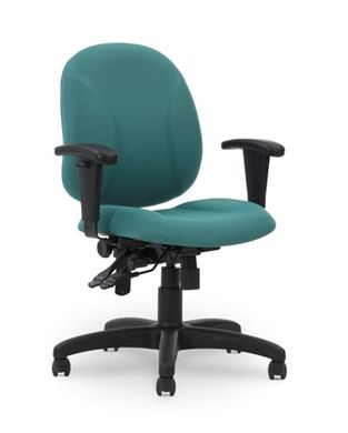 Picture of Ergonomic Mid Back Multi Function Office Task Armless Chair