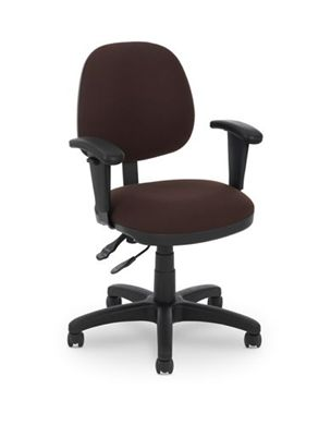 Picture of Petite Mid Back Office Task Swivel Chair with Adjustable Arms