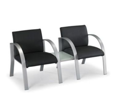 Picture of Contemporary Heavy Duty Lounge 2 Person Chair with Connecting Table