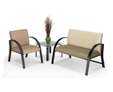 Picture of Contemporary Heavy Duty Reception Chair with Matching 2 Person Loveseat