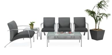 Picture of Contemporary and Stylish Reception Lounge Bariatric and Arm Chairs with Coffee End Tables