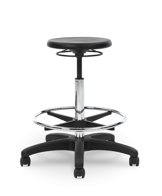 Picture of Industrial Poly Backless Swivel Stool with Footring