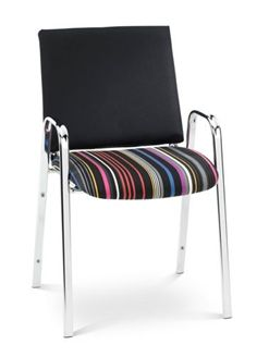 The Office Leader Steel Frame Stack Guest Side Chair With Arms