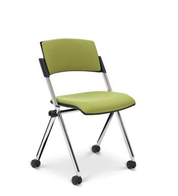 Picture of Compact Mobile Nesting Armless Chair with Padded Seat and Back