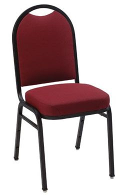 "Picture of  Banquet Café Armless Stack Chair with 3"" Upholstered Seat"