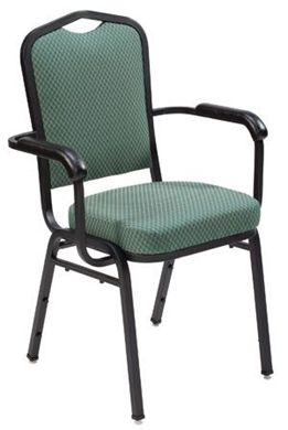"Picture of Banquet Café  Stack And Arm Chair with 3""  Upholstered Seat"