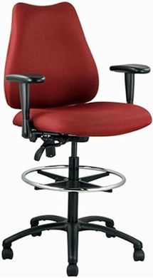 Picture of Multi Function 350 LBS Footring Drafting Arm Stool Chair