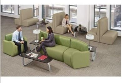 Picture of Modular Tandem Reception Lounge Bench Seating with Matching Arm Chair