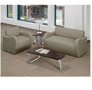 Picture of Modular Tandem Reception Lounge Loveseat with Arm Chair