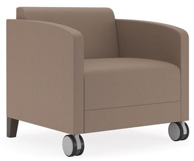 Picture of Contemporary Reception Lounge Mobile Club Arm Chair Sofa, 500 LBS.