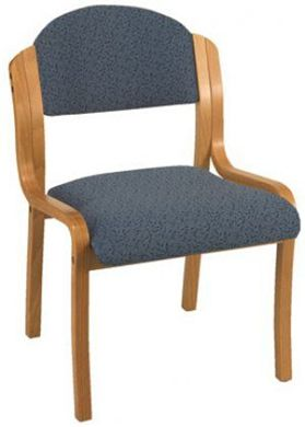 "Picture of  Wood Armless Stack Chair with 2"" Padded Roll Front Seat"