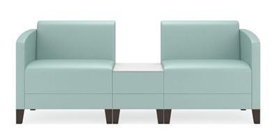 Picture of Contemporary Reception Lounge Modular 2 Seat Chair with Connecting Table