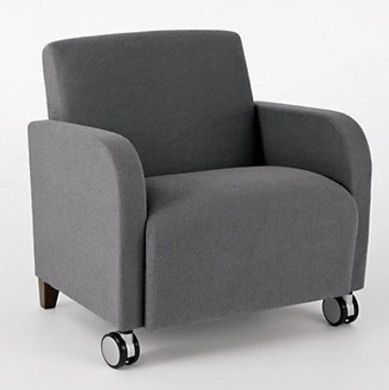Picture of Heavy Duty Reception Lounge Mobile Bariatric Club Chair Sofa, 500 LBS.