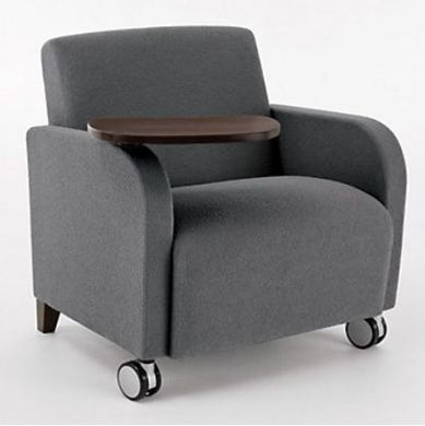Picture of Heavy Duty Reception Lounge Bariatric Mobile Club Chair Sofa with Tablet, 500 LBS.