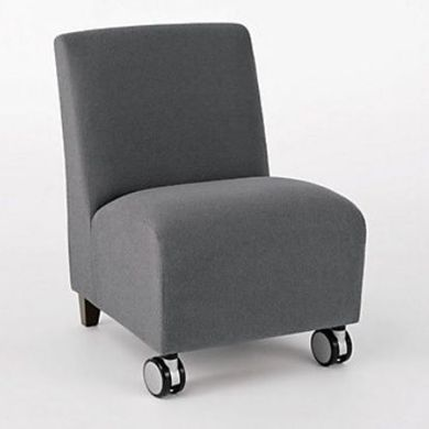 Picture of Heavy Duty Reception Lounge Armless Mobile Club Chair Sofa, 400 LBS.