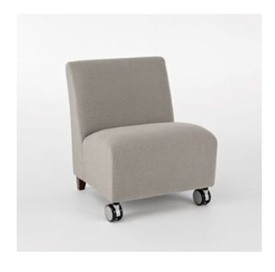 Picture of Heavy Duty Reception Lounge Bariatric Armless Mobile Club Chair Sofa, 500 LBS.