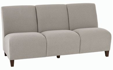 Picture of Heavy Duty Reception Lounge 3 Seat Armless Modular Sofa