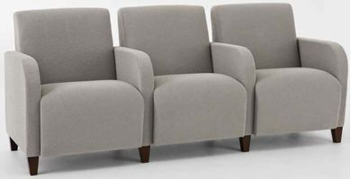 Picture of Heavy Duty Reception Lounge 3 Chair Tandem Modular Seating