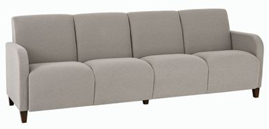 Picture of Heavy Duty Reception Lounge 4 Chair Tandem Modular Sofa Seating