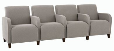 Picture of Heavy Duty Reception Lounge 4 Chair Tandem Modular Seating