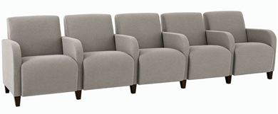 Picture of Heavy Duty Reception Lounge 5 Chair Tandem Modular Sofa Seating with Arms