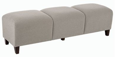 Picture of Heavy Duty 3 Seat Lounge Tandem Modular Backless Bench