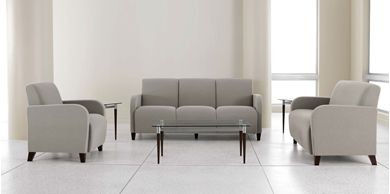 Picture of Heavy Duty Reception Lounge Loveseat, Guest Chair and 3 Seat Modular Sofa