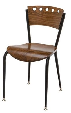 Picture of Café Metal Frame Armless Chair With Waterfall Seat,400LBS