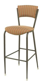 Picture of  Café Metal Frame Armless Barstool Chair With Waterfall Seat, 400 LBS.