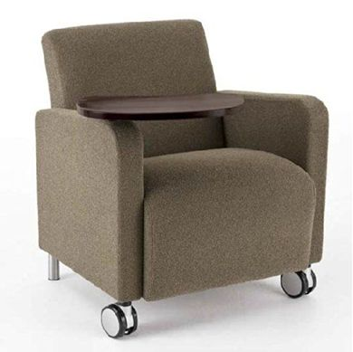 Picture of Reception Lounge Heavy Duty Mobile Bariatric Tablet Arm Club Chair, 500 LBS.
