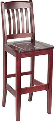 Picture of  Café Hardwood Armless Barstool Chair With Wood Stained Seat 400 LBS.