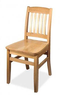 Picture of Café Hardwood Armless  Chair With Wood Stained Seat 400 LBS.