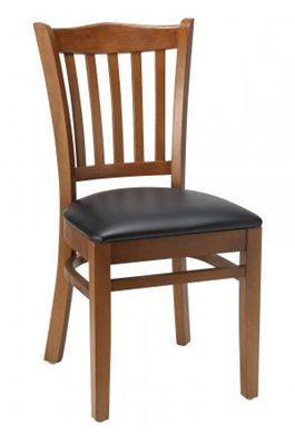 """Picture of Café Hardwood Armless  Chair With 2"""" Upholstered Seat, 400 LBS."""