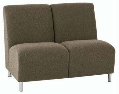 Picture of Reception Lounge Heavy Duty 2 Chair Tandem Armless Modular Seating