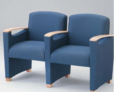 Picture of Open Arm Reception Lounge 2 Chair Modular Tandem Seating