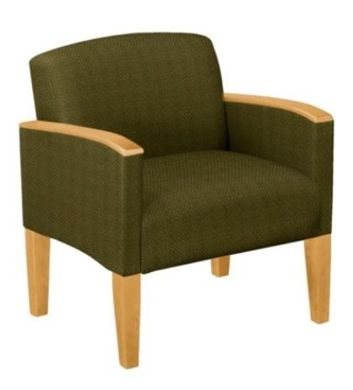 Picture of Wood Cap Reception Lounge Modular Oversized Single Guest Chair, 500 LBS. Capacity