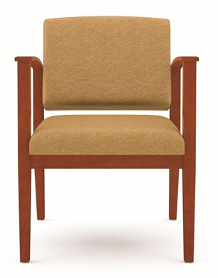Picture of A Reception Lounge Wood Open Arm Guest Chair