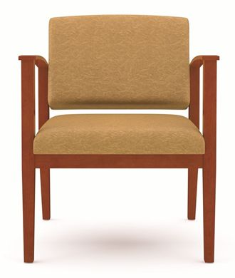 Picture of A Reception Lounge Oversized Wood Open Arm Guest Chair, 400 LBS.