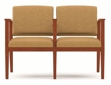 Picture of A Reception Lounge 2 Chair Modular Tandem Seating with Outer Arms