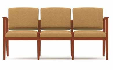 Picture of A Reception Lounge 3 Chair Modular Tandem Seating with Outer Arms
