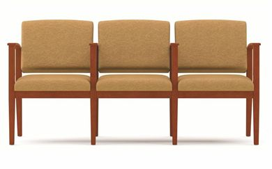 Picture of A Reception Lounge 3 Chair Modular Tandem Seating with Arms