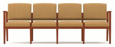 Picture of A Reception Lounge 4 Chair Modular Tandem Seating with Outer Arms