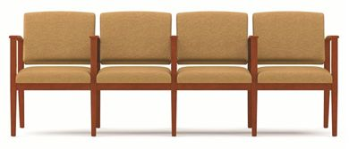 Picture of A Reception Lounge 4 Chair Modular Tandem Seating with Arms