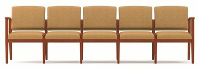 Picture of A Reception Lounge 5 Chair Modular Tandem Seating with Outer Arms
